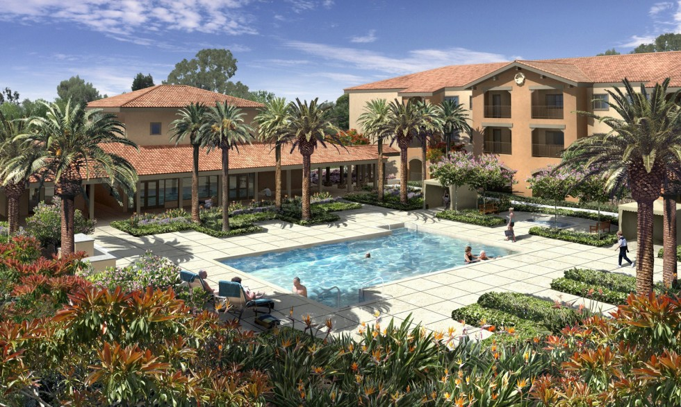 07117-Kisco Senior Living-Valencia Terrace-Pool Scene-C02-Pa